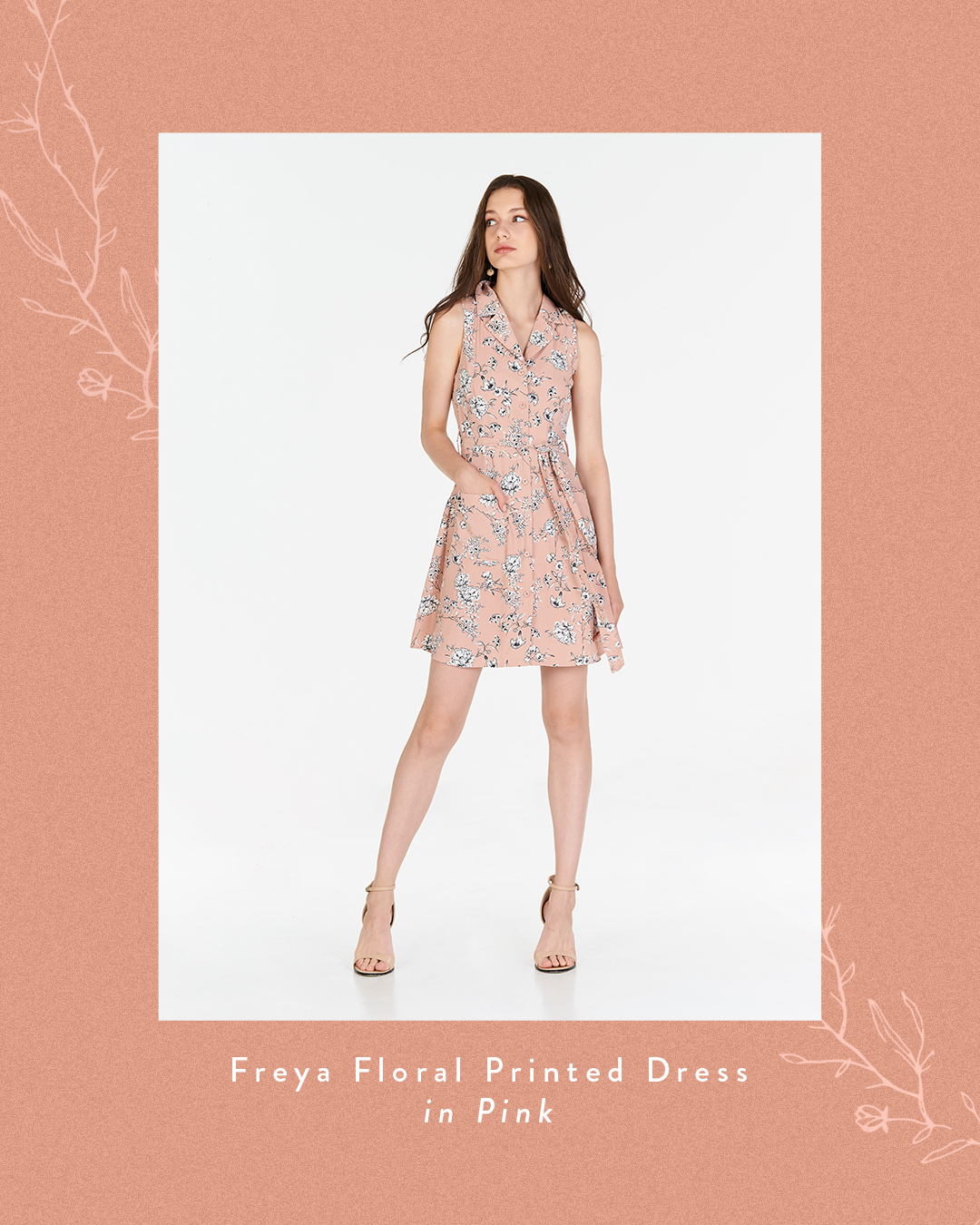 Freya Floral Printed Dress