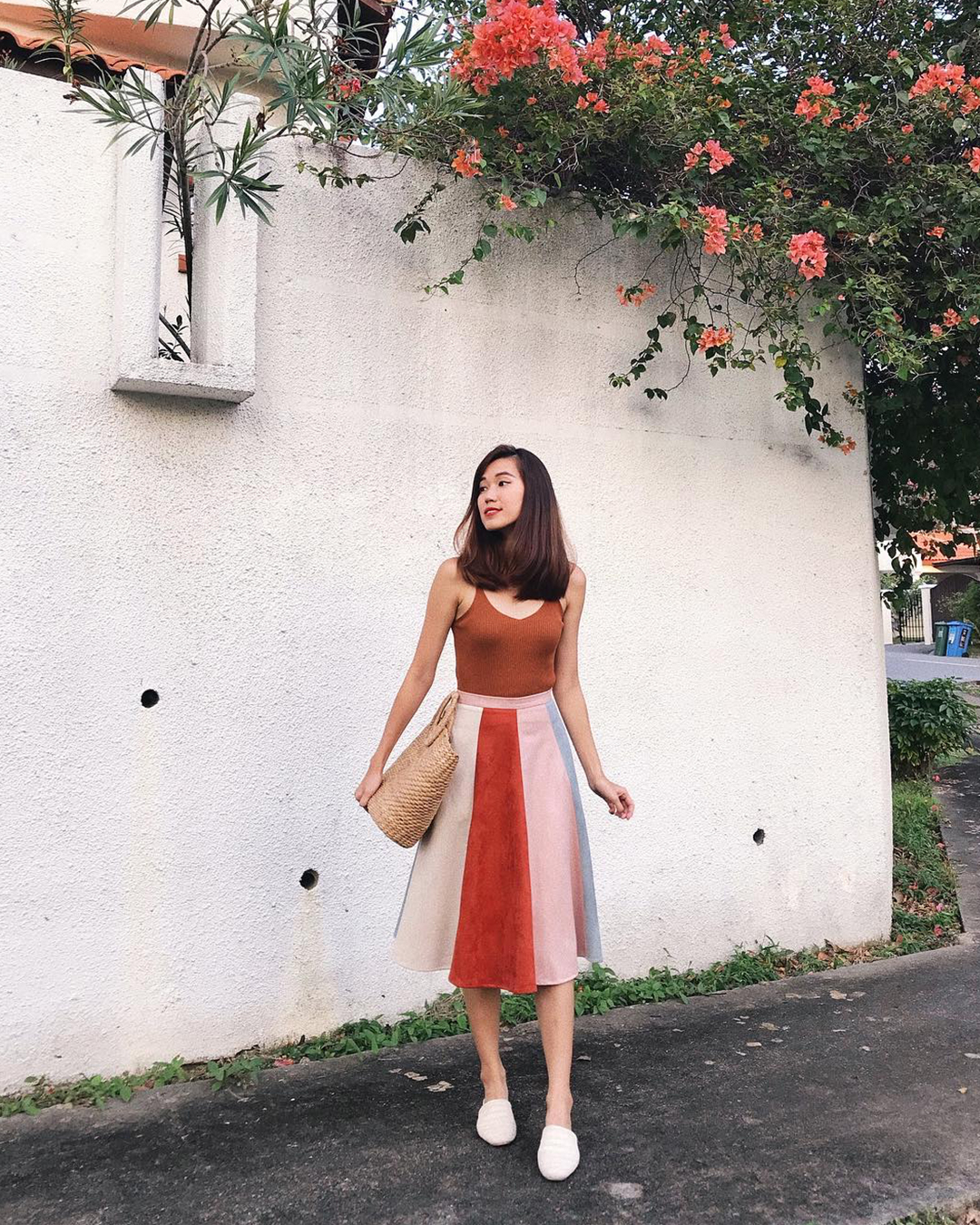 bf69a3062203 As seen on  jocinaaa - Lucina Suede Midi Skirt in Pink