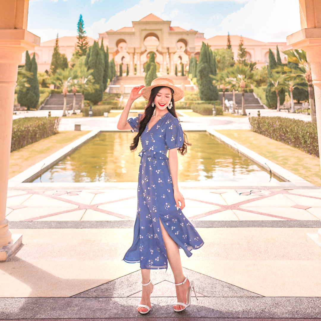 AS SEEN ON @DIANAOHY - LILLA MIDI DRESS IN PERIWINKLE