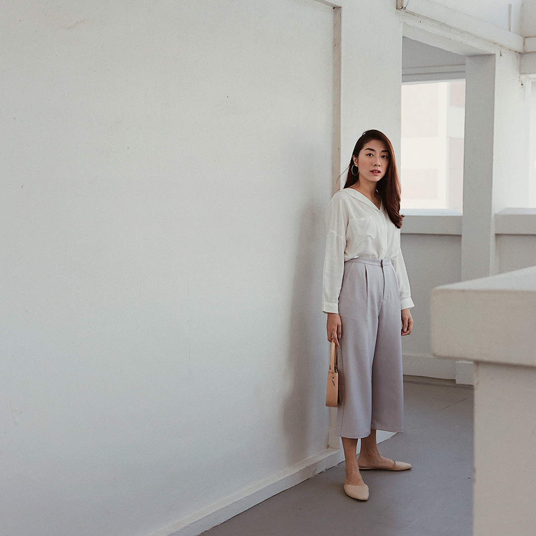 As seen on @gilliansng - Harl Shirt and Nolla Culottes