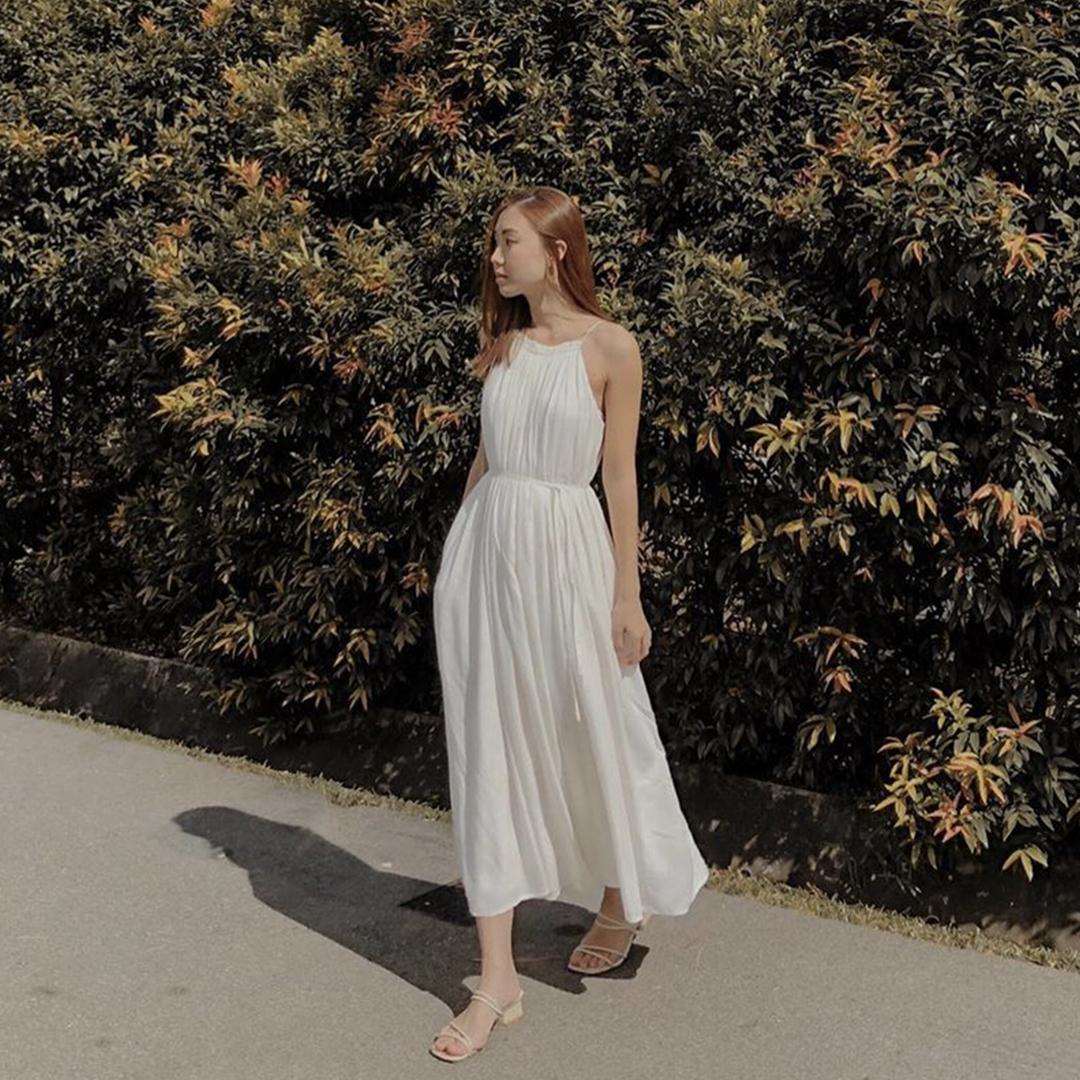 As seen on @joycelynthiang - Graciela Pleated Maxi Dress in White