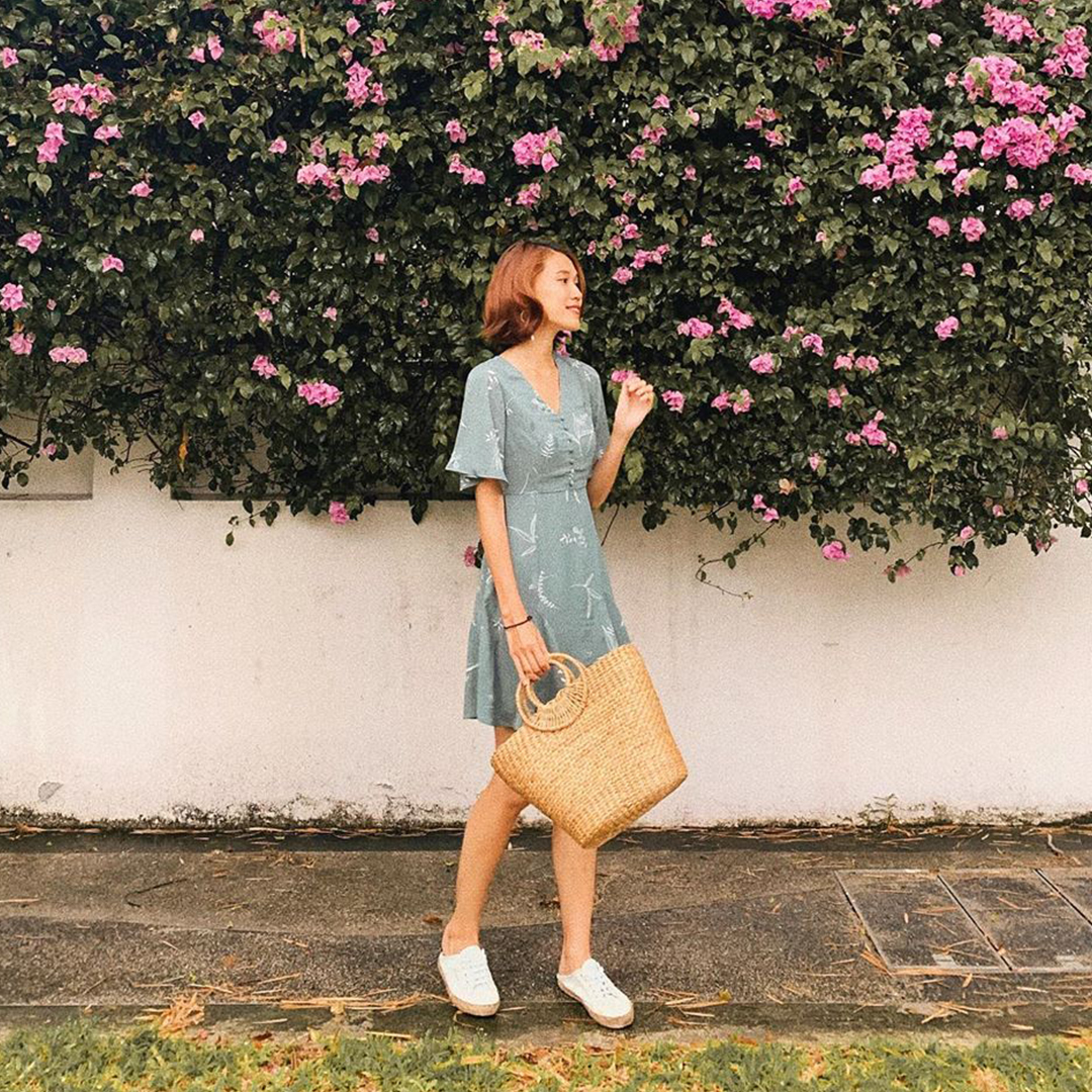 As seen on @Jocinaaa - Cerinne Foliage Printed Dress