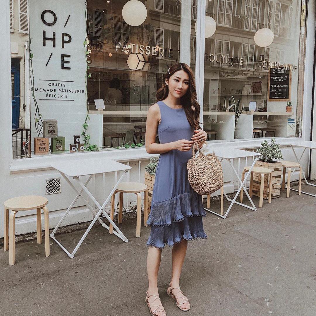 As seen on @mongabong - Rindora Ruffled Midi Dress