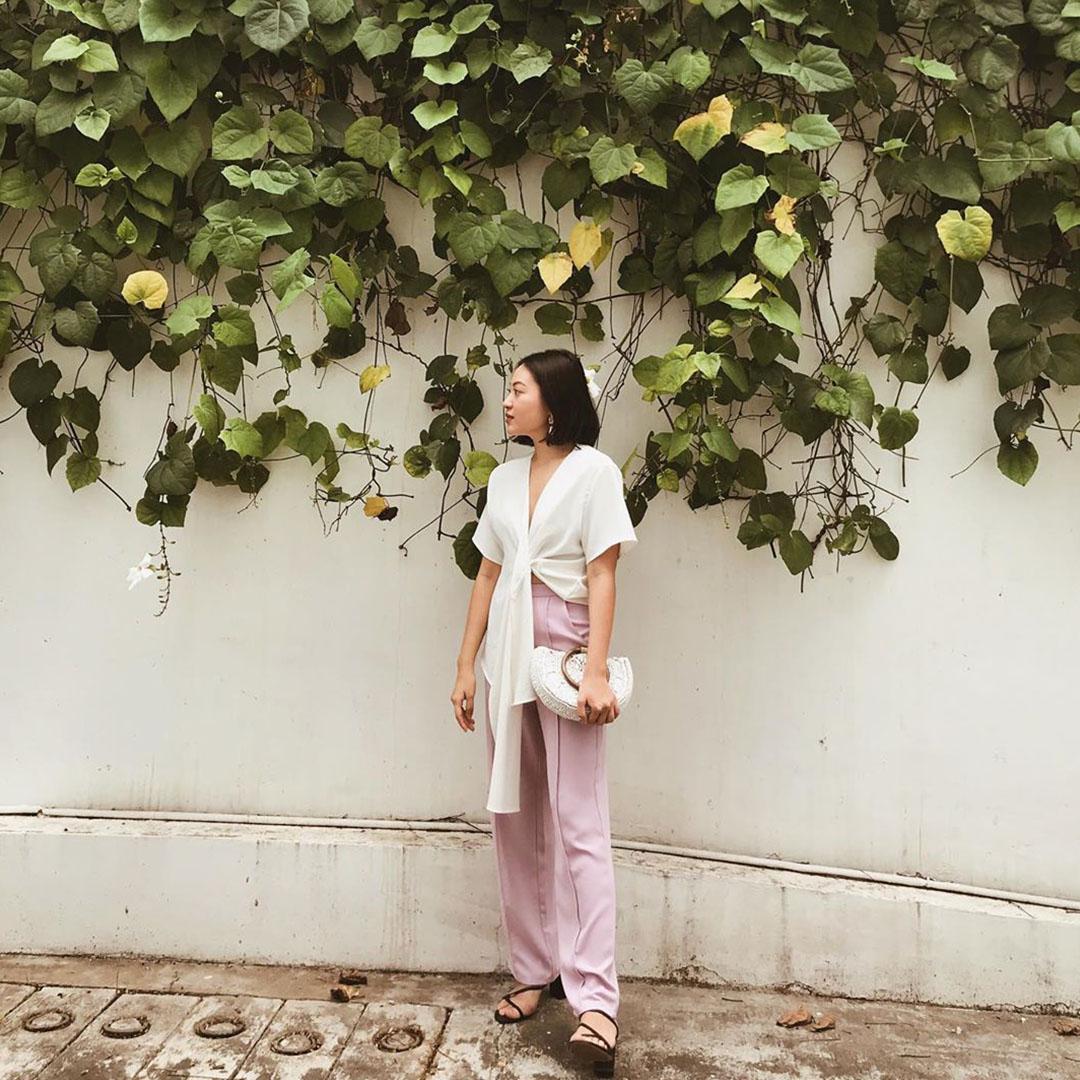 As seen on @charlottewangwang - Dana Pants in Lilac