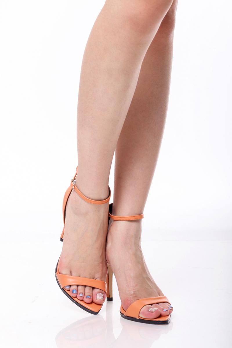 TCL Minimalist Heels in Atomic Tangerine