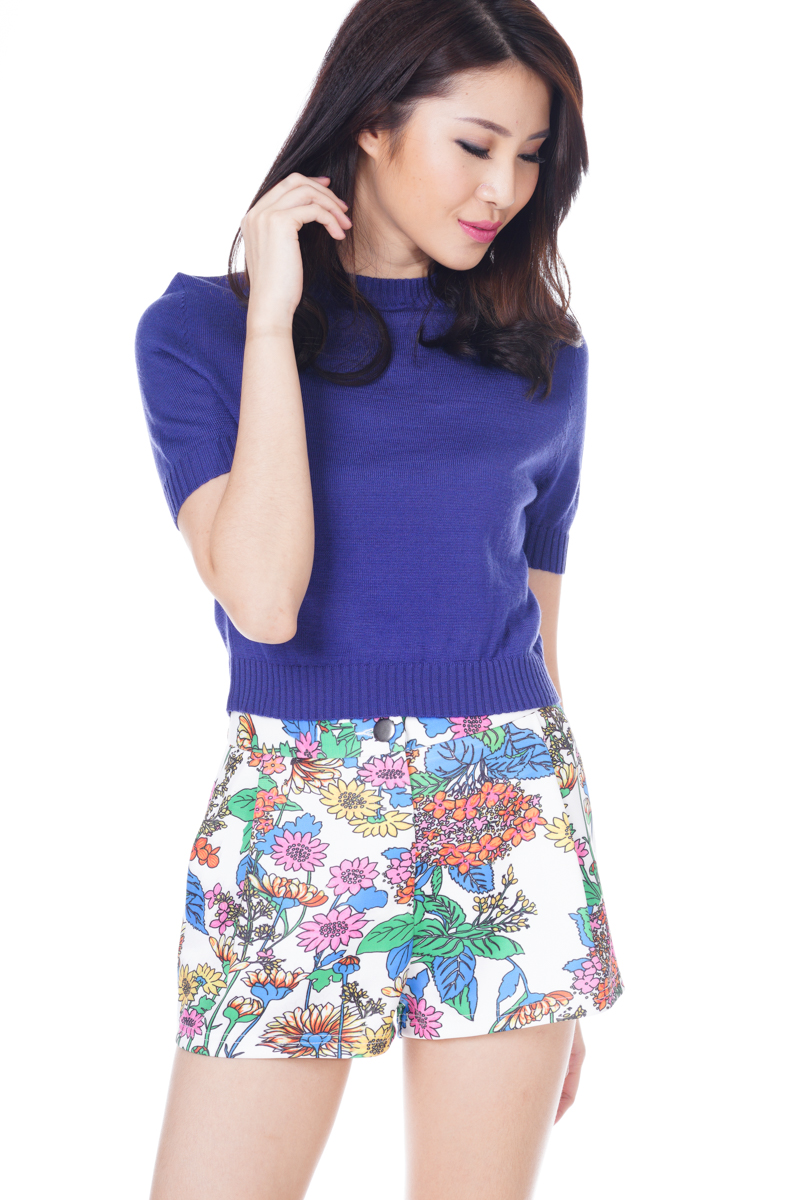 *Premium* TCL Go With Florals Neoprene Shorts
