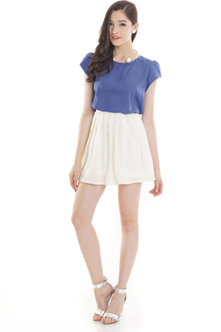 TCL Blushing Pleats Skirt in Ivory