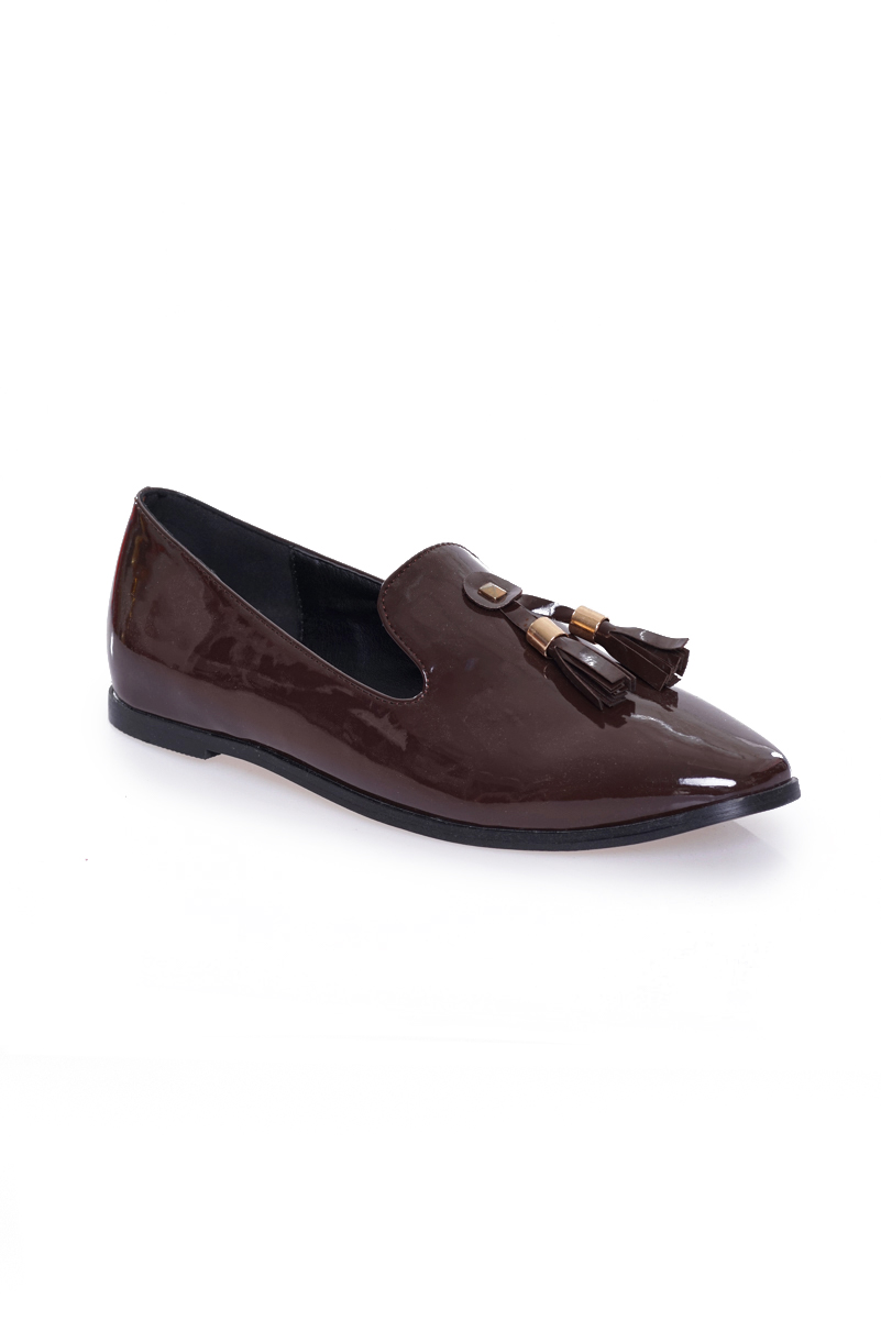 *Premium* TCL Frankfurt Tassle Loafers in Maroon