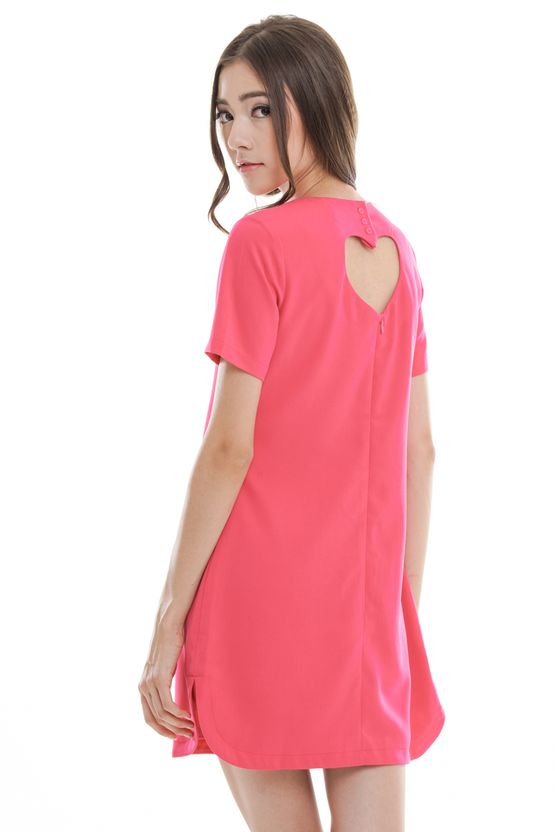 *Restock Premium* TCL You Are In Love Dress in Hot Pink