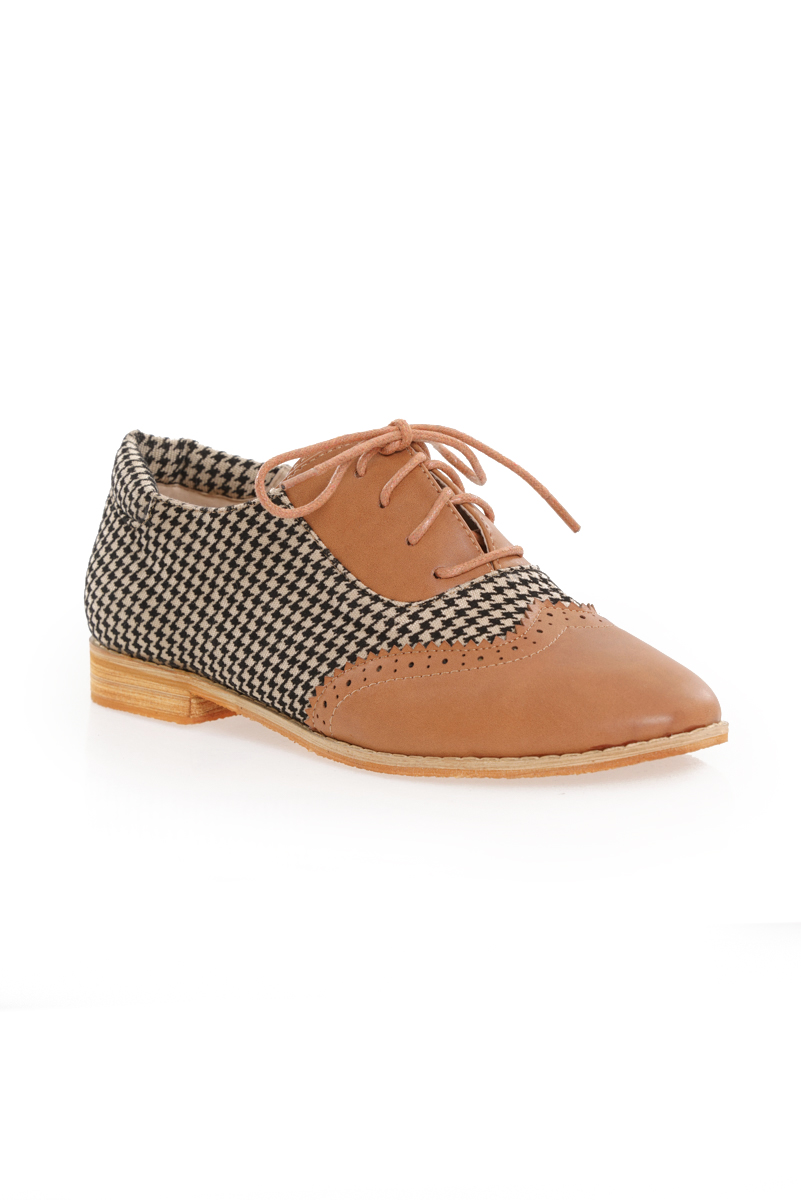 *Premium* TCL Houndstooth Loafers in Brown