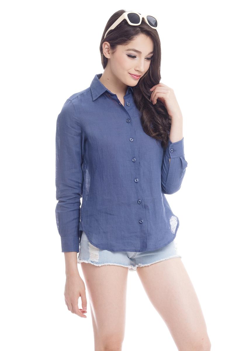 *Premium* TCL Essential Staple Shirt in Dark Blue