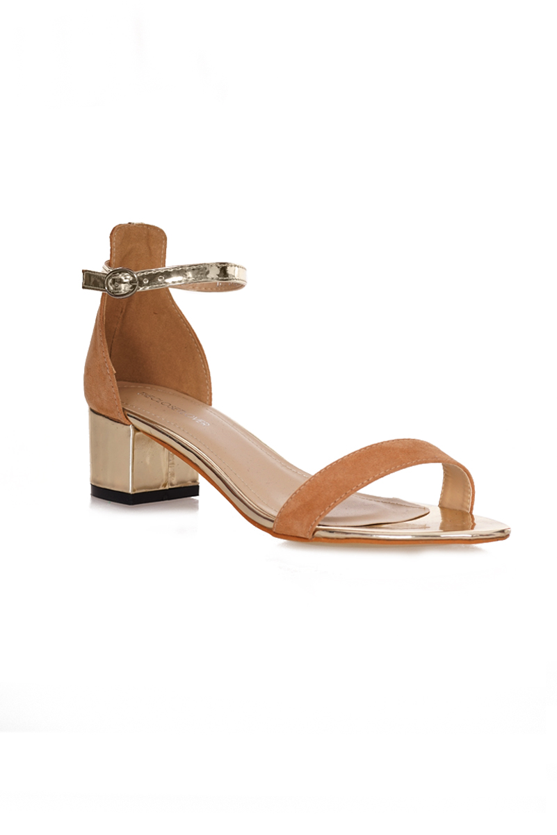 *Premium* Bliss Suede Sandals in Sand