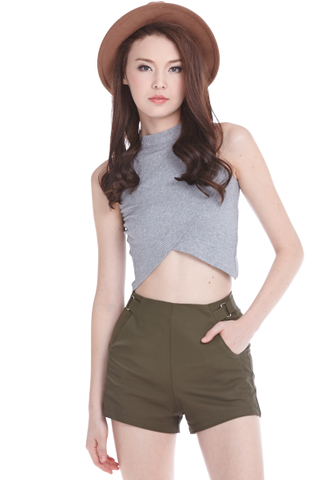 Kendall Cropped Top in Grey