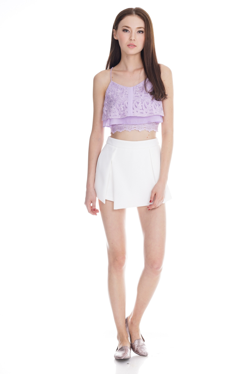 Valencia Embroidery Bralet in Lilac