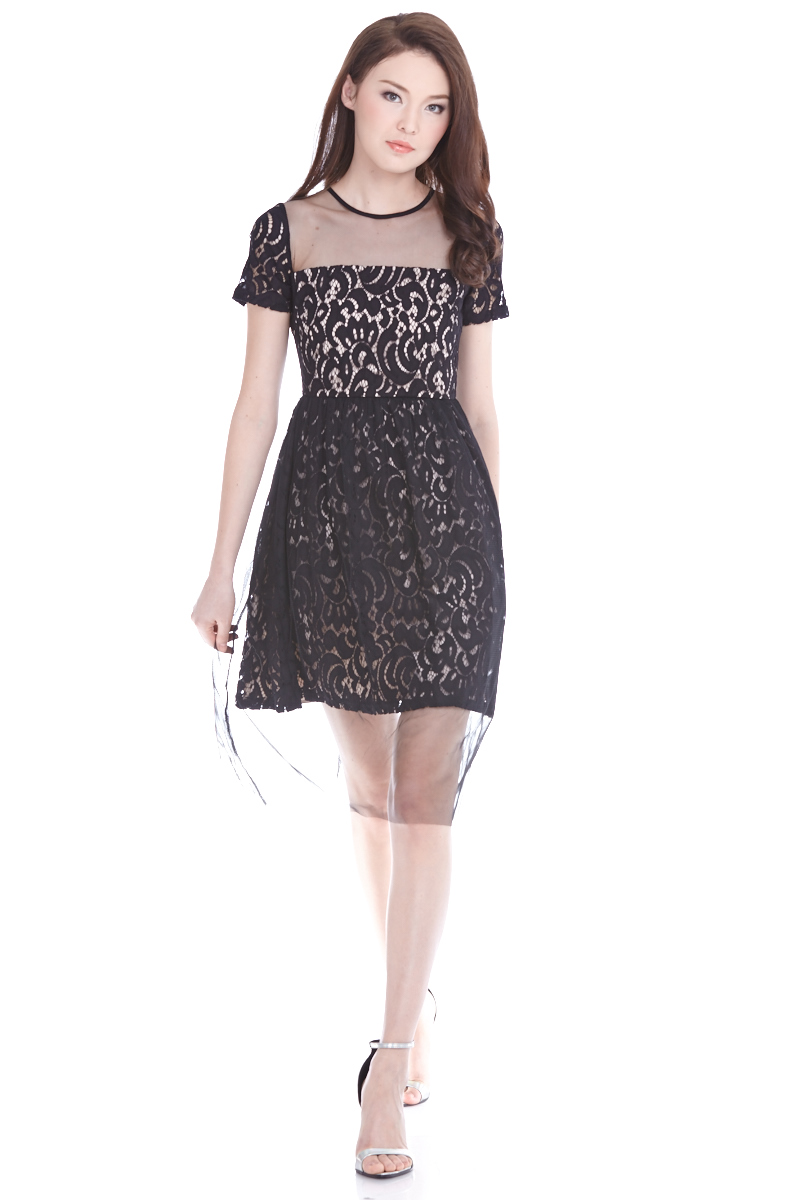 Dernise Tulle Dress in Black