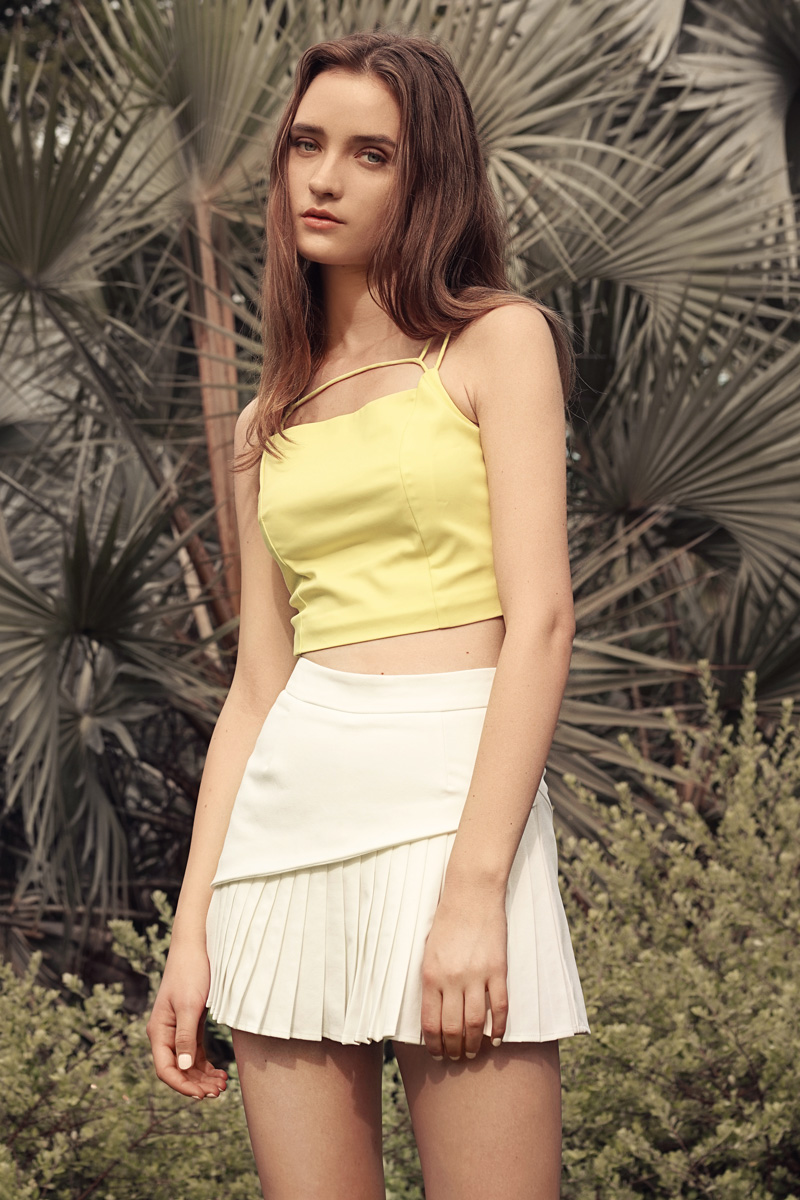 Carte Top in Lime Yellow
