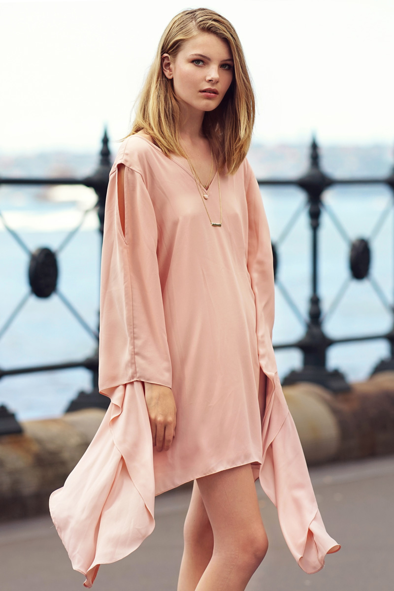 Felicia Dress in Blush