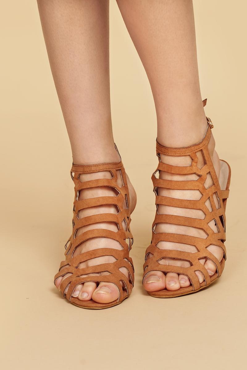 *Restock* Bianca Heels in Camel