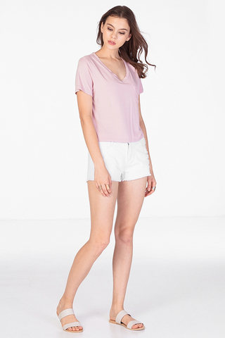 Finder Basic Tee in Pink