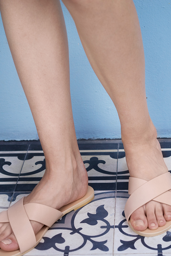 *Restock* Jaelyn Sliders in Nude Pink