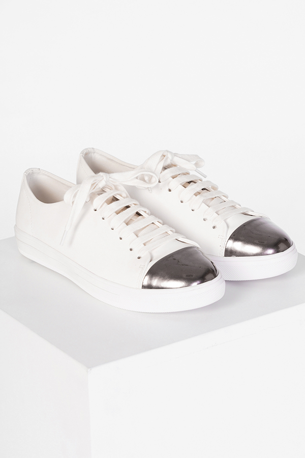 Princeton Sneakers in Silver