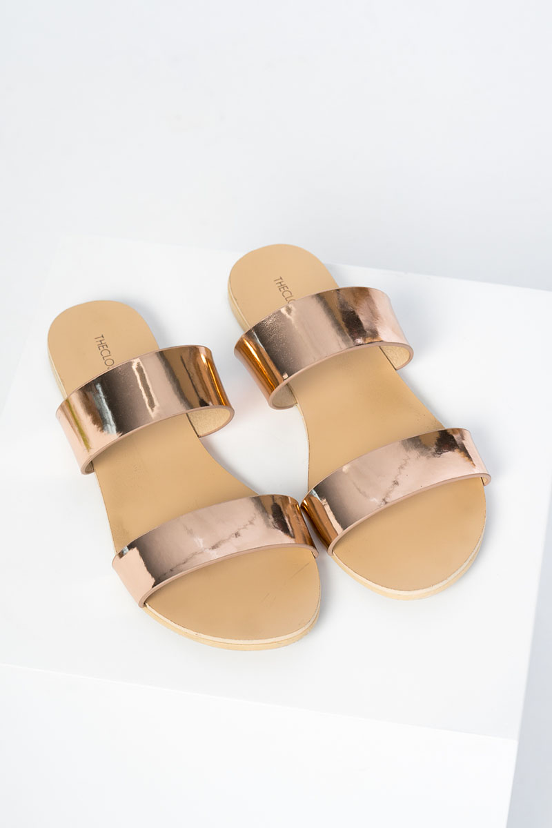 *Backorder 3* Maisson Sliders in Rose Gold
