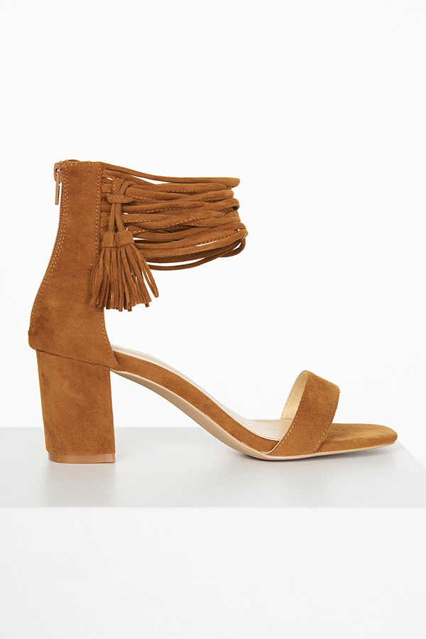 Lavice Low Block Heels in Camel
