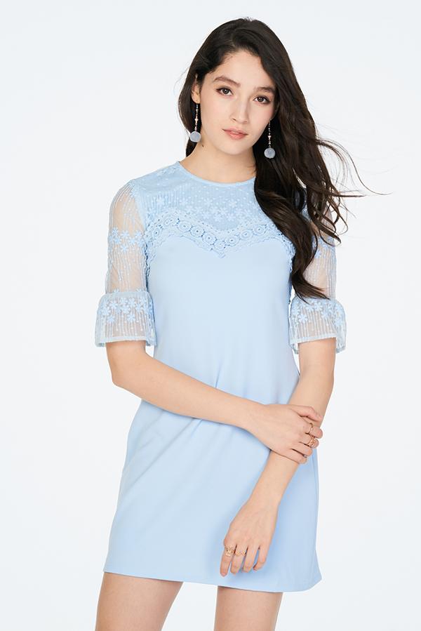 ac8f6286858 Hazelle Crochet Dress in Blue