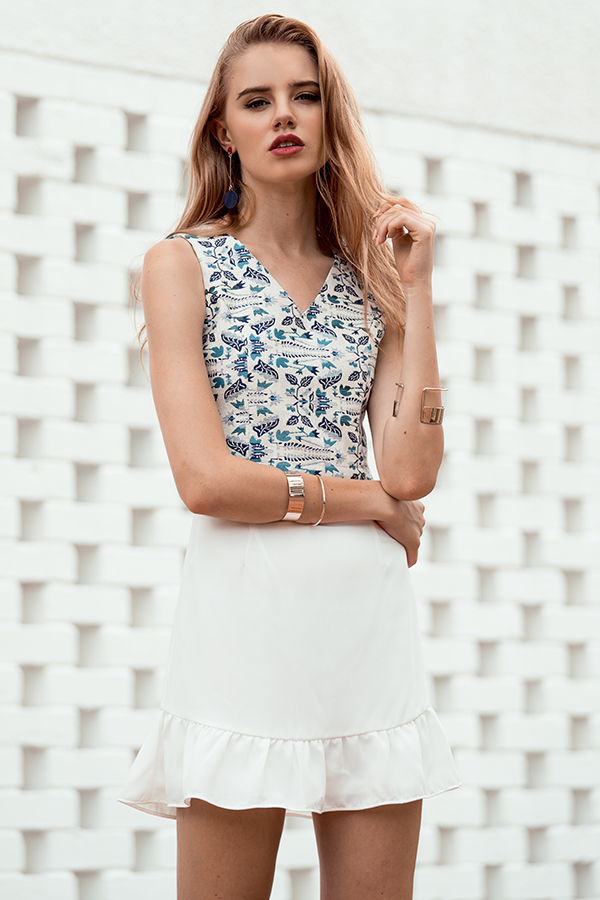 Shanell Printed Top