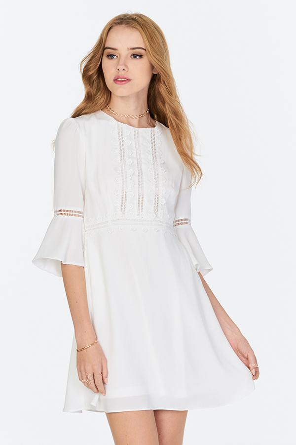 *Restock* Lavina Crochet Dress in White
