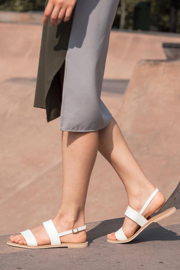 *Restock* Mira Sandals in White