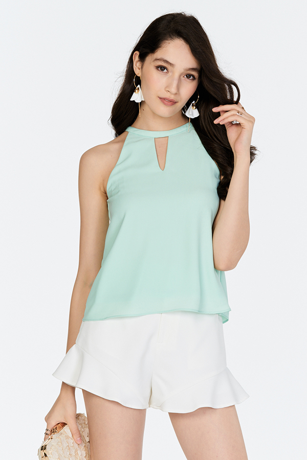 Catina Top in Mint
