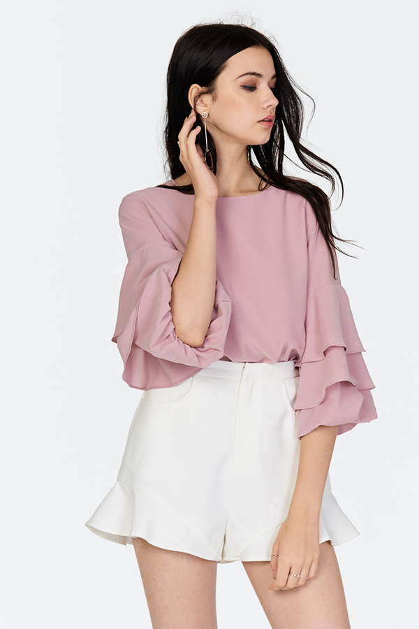 Dasha Ruffled Blouse in Pink