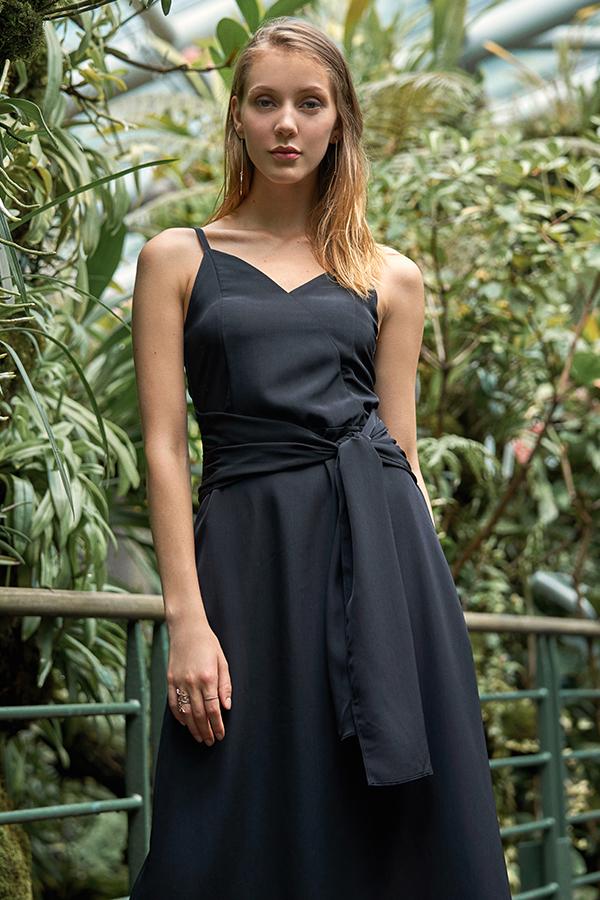 Jennica Sash Maxi in Black