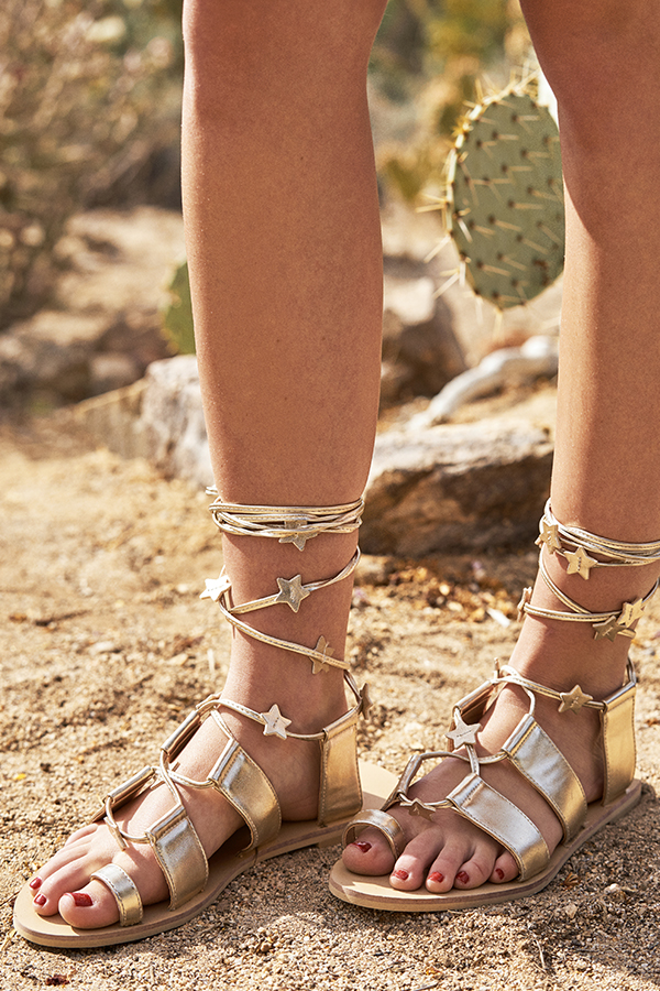 Carina Starstruck Sandals in Gold