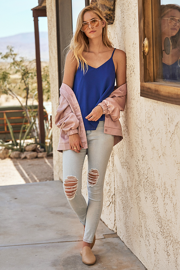 Havana Ripped Jeans in Light Denim