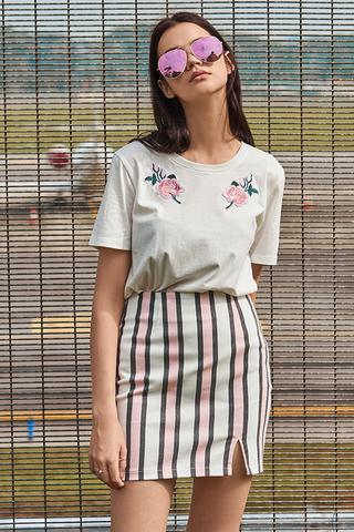 Nelle Denim Stripes Skirt