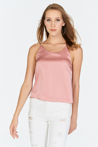 Cora Double Strap Top in Pink