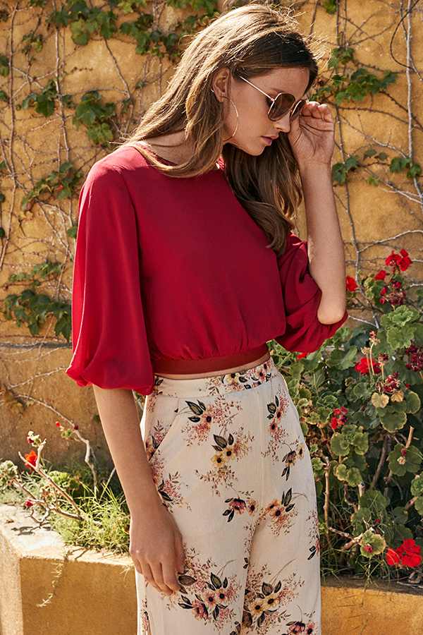Agness Blouse in Red