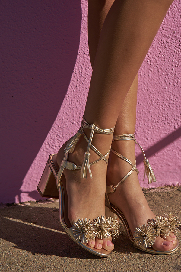 Sherron Heels in Gold