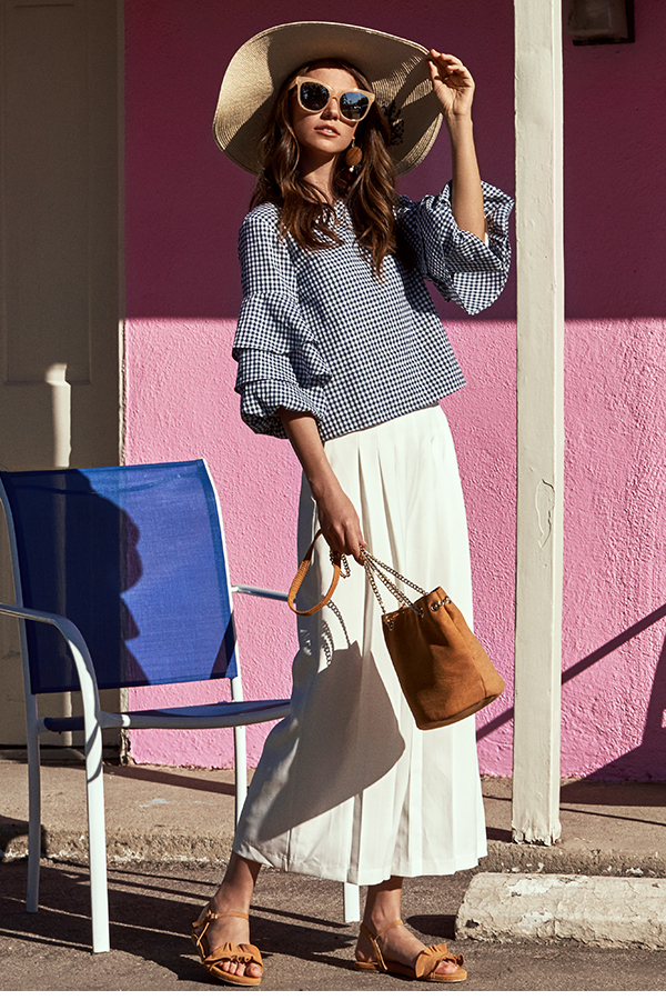 Leigh Pleated Culottes in White