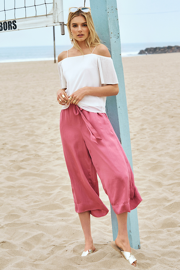 Savilles Culottes in Tea Rose