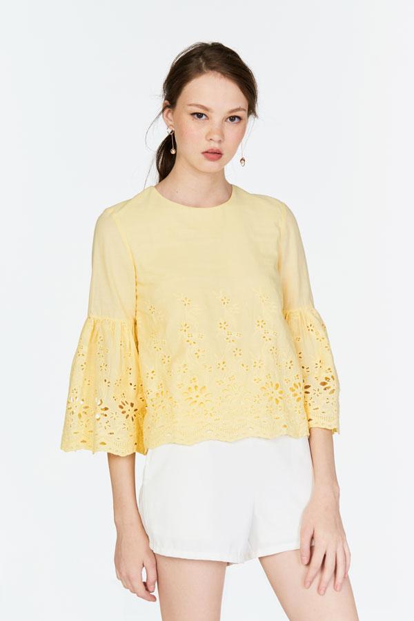 Mya Crochet Top in Daffodil