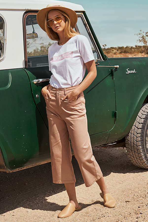 Mackenzie Denim Culottes in Pink