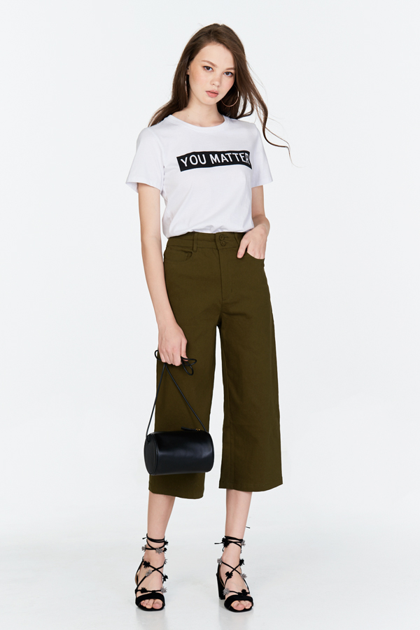 Mackenzie Denim Culottes in Olive
