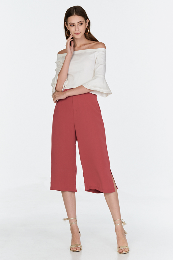 *Restock* Lesta Side Slit Culottes in Terra Cotta