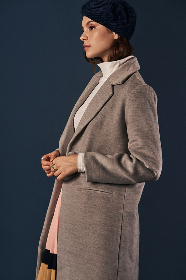 Keepsake Wool Coat in Grey