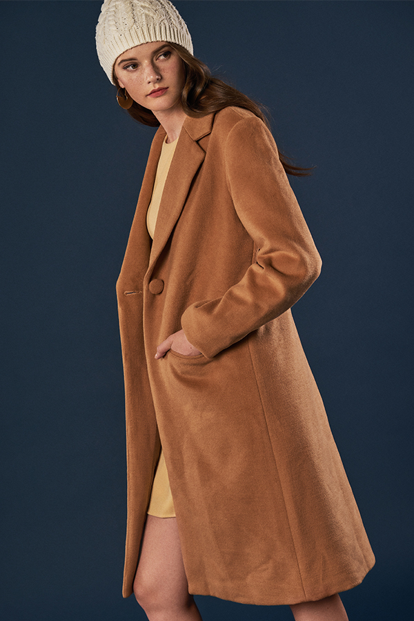 Keepsake Wool Coat in Camel