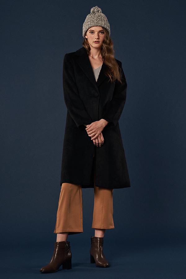 Keepsake Wool Coat in Black