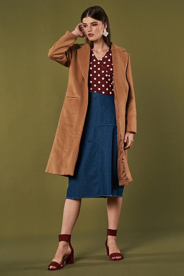 Sonia Denim Midi Skirt